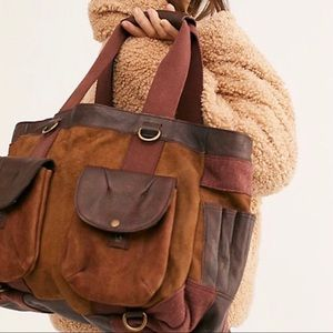 New Free People Convertible Distressed Backpack